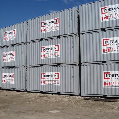 Portamini storage 20ft shipping container rental toronto porta mini storage solution - Shipping container homes toronto ...