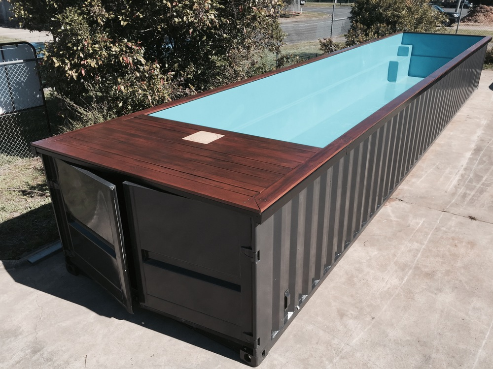 portamini storage swimming pool out of storage container. Black Bedroom Furniture Sets. Home Design Ideas